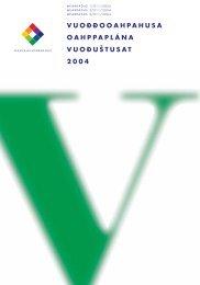 vuoððooahpahusa oahppaplána vuoððoáššit 2004