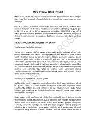 TAPU İPTALİ ve TESCİL • TENKİS - İstanbul Barosu