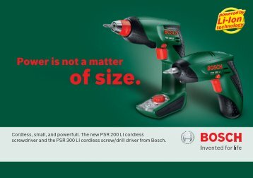 of size. - Bosch
