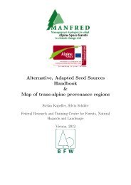 Alternative, Adapted Seed Sources Handbook & Map of trans-alpine ...
