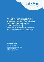 Ausführungshinweise (AH) - Heidelberger Versorgungs