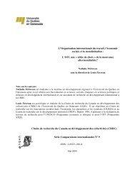 L'Organisation internationale du travail, l'économie sociale et ... - UQO