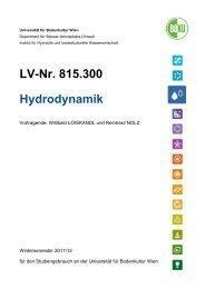 Hydraulik II Skriptum - Department Wasser-Atmosphäre-Umwelt ...