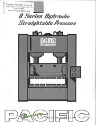 Pacific D Series Hydrualic Straightside Presses Brochure - Sterling ...