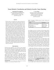Name-Ethnicity Classification and Ethnicity ... - Dr. C. Lee Giles
