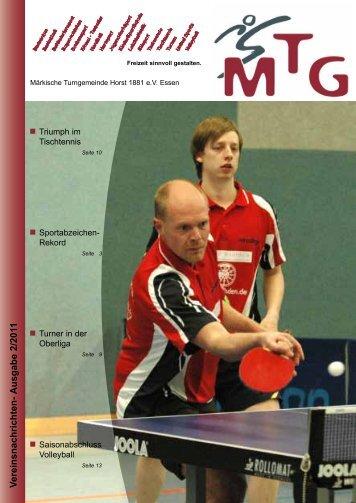 V ereinsnachrichten- Ausgabe 2/2011 - MTG Horst
