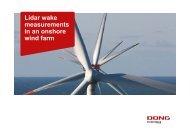 Lidar wake measurements in an onshore wind farm