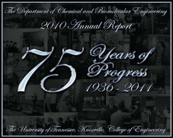 CBE 2010 Annual Report - College of Engineering