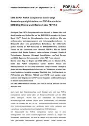 DMS EXPO: PDF/A Competence Center zeigt ...