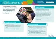 Health and Well-being - Early Years Matters