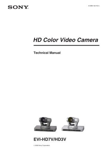 HD Color Video Camera EVI-HD7V/HD3V - Sony