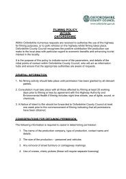 Filming policy (pdf format, 48 KB) - Oxfordshire County Council