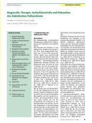 Leitlinie diabetisches Fußsyndrom - Gelbe Liste Pharmindex