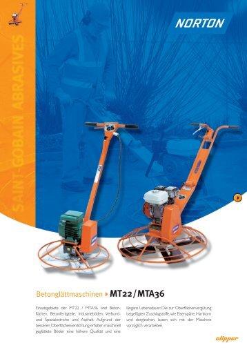 Betonglättmaschinen MT22/MTA36 - Norton Construction Products