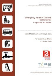 Emergency Relief in Informal Settlements: Proposals for Action ... - tips