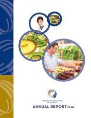 2010/2011 Annual Report - College of Dietitians of Alberta
