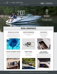 2100 BOWRIDER REGAL ADVANTAGES - Regal Boats
