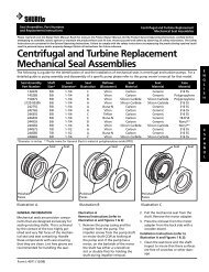 Centrifugal and Turbine Replacement Mechanical Seal Assemblies