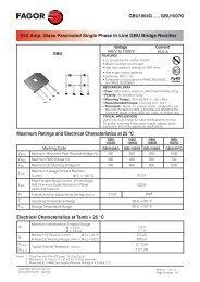 GBU1004G ..... GBU1007G Maximum Ratings ... - Fagor Electrónica
