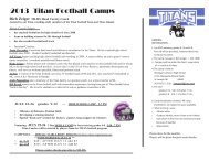 2013 Titan Football Camps - Michigan Lutheran High School
