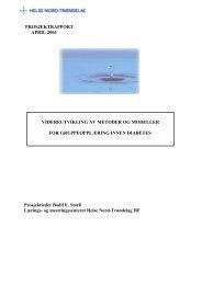 PROSJEKTRAPPORT APRIL 2004 ... - Helse Midt-Norge