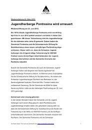 Jugendherberge Pontresina wird  erneuert - Schweizer ...