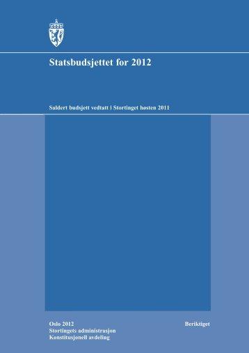 Vedtatt budsjett for 2102 - Stortinget