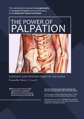 31. Listening to Fascial System by Valentin C. Dones, Physiotherapist