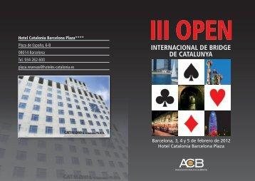 Programa - Asociación Española de Bridge