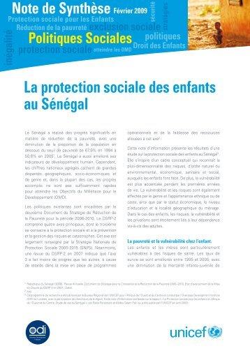 Note de Synthèse | Politiques Sociales - Capacity4Dev