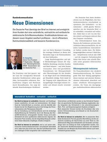Den vollständigen Text als pdf finden Sie hier - Banken+Partner