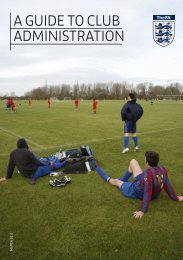 A GUIDE TO CLUB ADMINISTRATION - The Football Association