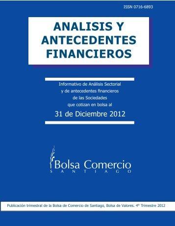 ANALISIS Y ANTECEDENTES FINANCIEROS - Bolsa de Comercio ...