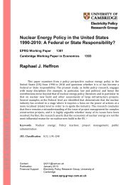 PDF - Electricity Policy Research Group - University of Cambridge