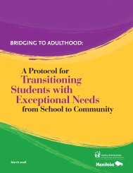 Bridging to Adulthood - Government of Manitoba