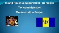 IRD Barbados Tax Administration Modernization Project