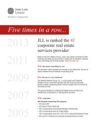 Download an overview of the survey results here - Jones Lang LaSalle