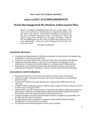 2012-13 Key Accomplishments Supporting the Student Achievement ...