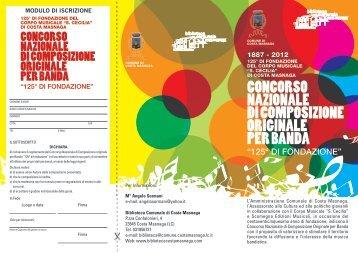 CONCORSO NAzIONALE DI COMPOSIzIONE ... - Banda Musicale