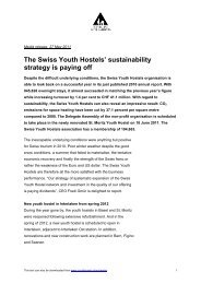 The Swiss Youth Hostels' sustainability strategy is paying off