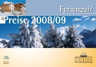 Preise 2008/09 - Hotel Edelweiss