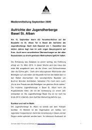 Aufrichte der Jugendherberge Basel St. Alban - Schweizer ...