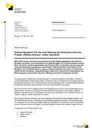Schloss Burgdorf: Für die neue Nutzung des Schlosses wird das ...
