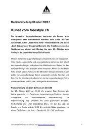 Medienmitteilung Oktober 2009/1 Kunst vom freestyle.ch