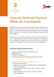 Carta dei Diritti del Paziente affetto da maculopatia - OptoVolante