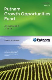 Putnam Growth Opportunities Fund - Putnam Investments