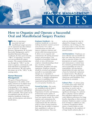 26746 AAOMS PM Notes - American Association of Oral and ...