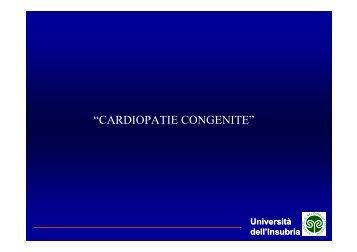 Cardiopatie Congenite - Dipartimento di Informatica e Comunicazione