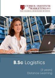B,Sc. Logistics Leaflet - The Cyprus Institute of Marketing