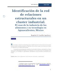 Identificación de la red de relaciones estructurales en un cluster ...